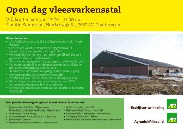 Open dag vleesvarkensstal - Subvention