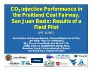 CO2 Injection Performance in the Fruitland Coal Fairway, San Juan ...