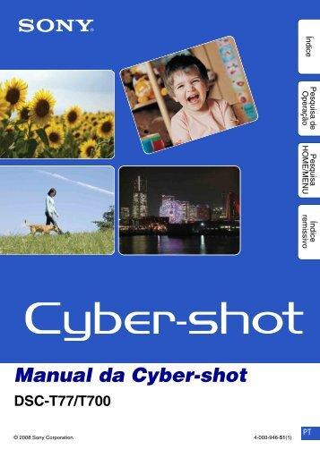 Manual da Cyber-shot - Componentes para Câmeras Digitais?