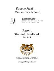 Eugene Field Elementary School Parent Student Handbook