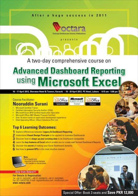 Advanced Dashboard Reporting with MS Excel - Octara com