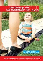 Safe Drainage with ACO HOMEDRAIN® Plus - ACO Polycrete Pty Ltd
