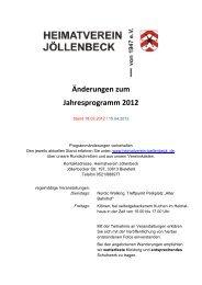 Jollenbecker Blatter Jahr Heimatverein Jollenbeck