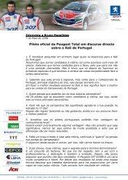 Entrevista Bruno Magalhães - Peugeot