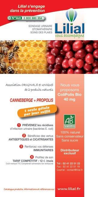 canneberge ColiPolis 40mg - Lilial