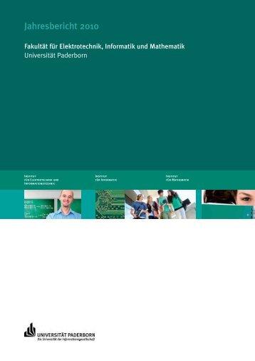 Jahresbericht 2010 - Institut für Mathematik - Universität Paderborn