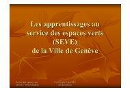 (SEVE) de la Ville de Genève - Cité des métiers