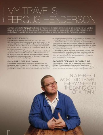 My travels: Fergus Henderson - The Wealth Collection