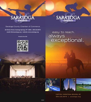 exceptional. - Saratoga County Chamber of Commerce
