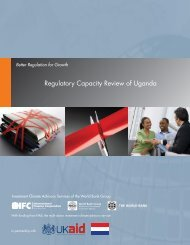 Regulatory Capacity Review of Uganda - Investment Climate