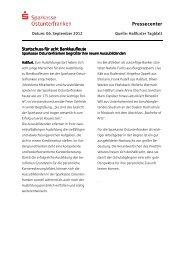 Vorlage Pressecenter - Sparkasse Ostunterfranken