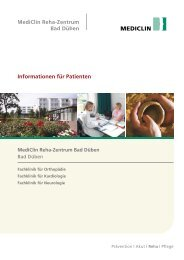 Informationen für Patienten - MediClin Reha-Zentrum Bad Düben