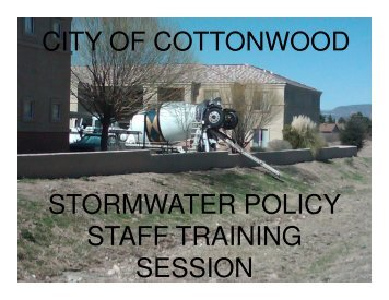 Stormwater Employee Training - City of Cottonwood