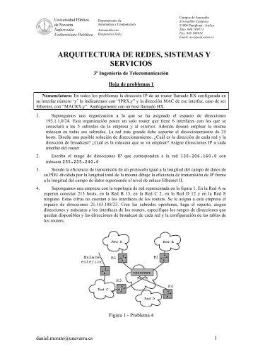 arquitectura de redes, sistemas y servicios - Universidad Pública de ...