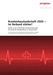 Krankenhauslandschaft 2020 - Prognos AG