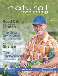 March 2013: Natural Foods and Gardens - Columbia Natural ...