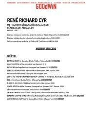 RENÉ RICHARD CYR - Agence Goodwin