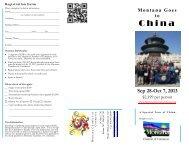 2013 China brochure - MCC logo - Montana Chamber of Commerce