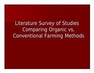 Literature Survey of Studies Comparing Organic vs. Conventional ...