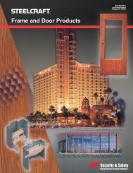 Frame and Door Products - Jersey Architectural Door & Supply Co.