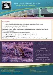 asian leopard newsletter no.1 - People's Trust for Endangered Species