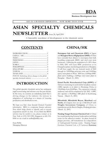 Issue 24, April 2001 - Business Development Asia LLC