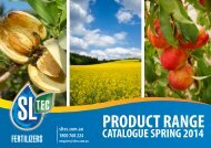 Product Range Catalogue - Sustainable Liquid Technology