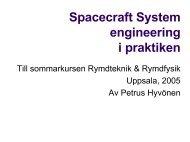 Satellitsystem - Space.irfu.se - Uppsala