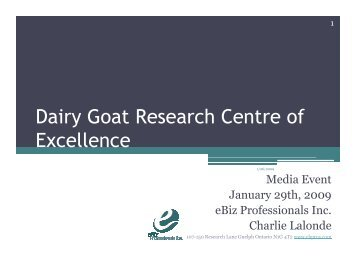 Dairy Goat Research Centre of Excellence