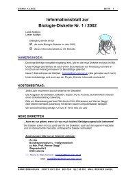Informationsblatt zur Biologie-Diskette Nr. 1 / 2002