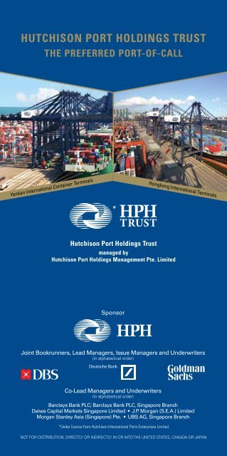 HUTCHISON PORT HOLDINGS TRUST - HPH Trust