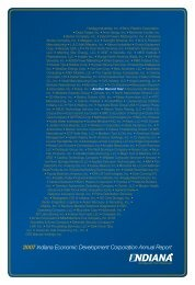 2007 Indiana Economic Development Corporation Annual Report