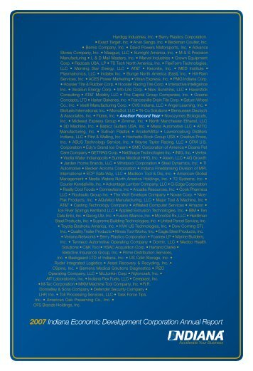 2007 Indiana Economic Development Corporation Annual Report