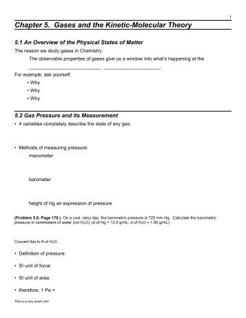 Worksheets Kinetic Molecular Theory Worksheet worksheet 8 partial pressures and the kinetic molecular theory gases cribme