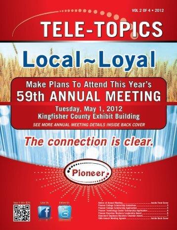 Tele-Topics - 2012 Vol 2 of 4.pdf - Pioneer Telephone Cooperative ...