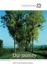 nedcor sustainability report 2003 - Nedbank Group Limited