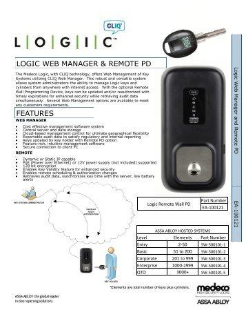 Logic Web and Remote Cut Sheet.pdf - Access Control Solutions ...