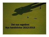 Det nya regelåret Nya handböcker 2012-2015 - Golf.se