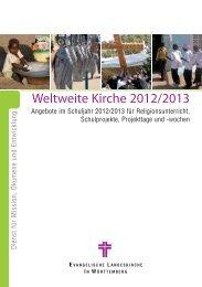 Religionsunterricht 2012/13 - Dienst für Mission, Ökumene und ...