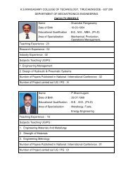 FACULTY PROFILE - KSR College of Technology