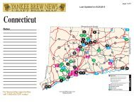 Connecticut Good Beer Map - Brewing News