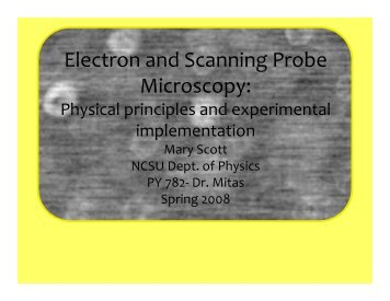 Electron and Scanning Probe Microscopy: