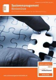 Bestenliste Systemmanagement - IT-Bestenliste
