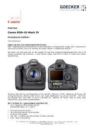 Canon EOS-1D Mark IV - Goecker