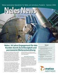 Neles: 50 Jahre Engagement für den Kunden durch ... - Metso