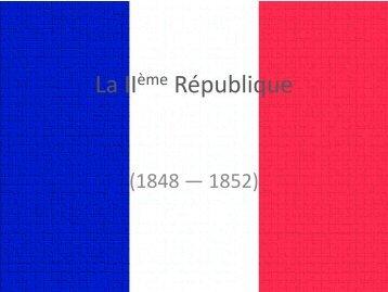 La IIème République
