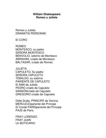 William Shakespeare - Romeo y Julieta