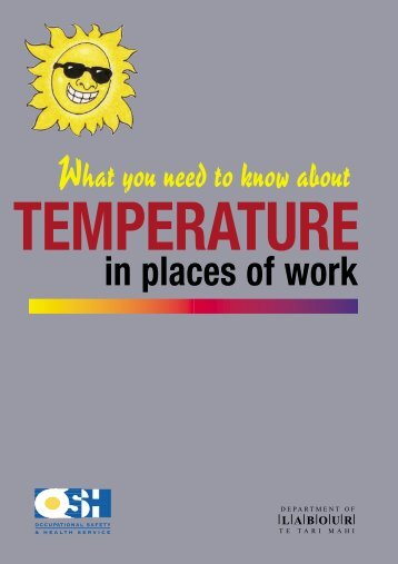 Temperature in Places of Work - Health and Safety - Department of ...