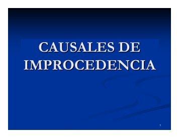 causales de improcedencia - Tribunal Electoral del Poder Judicial ...