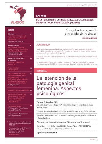 La atención de la patología genital femenina. Aspectos psicológicos